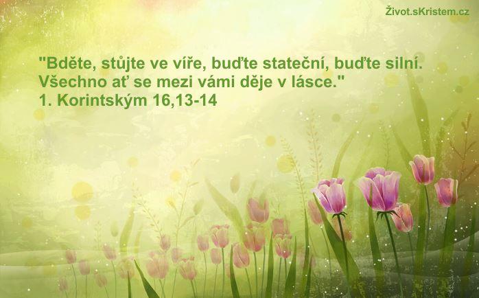 Bděte, stůjte ve víře, buďte stateční