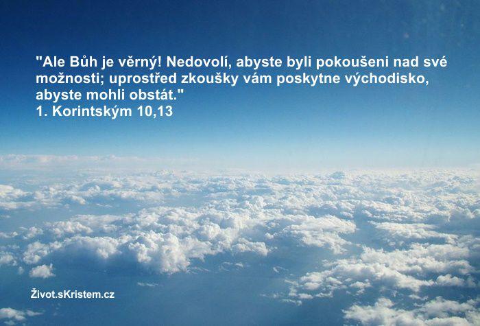 Bůh nedovolí, abyste byli pokoušeni nad své možnosti