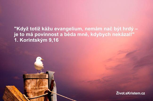 Kázat evangelium je povinnost!